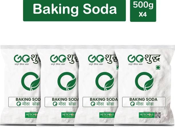 Goshudh Premium Quality Baking Soda 500 gm Each (Pack of 4) Baking Soda Powder