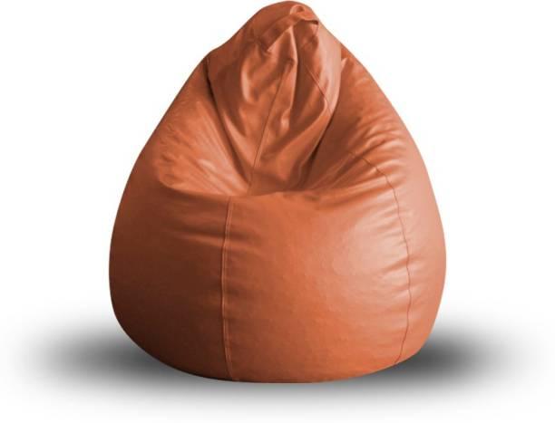 STYLE HOMEZ SHBBCLXLTANFL Leatherette XL Teardrop Kid Bean Bag