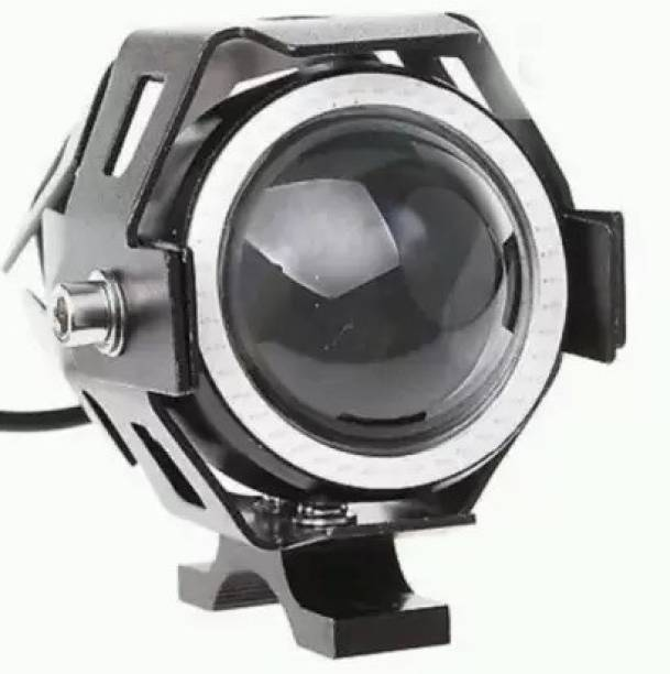 hjg HIGH POWER Original LED Motorcycle Fog Lamp with Blue Angel Ring Projector Lens