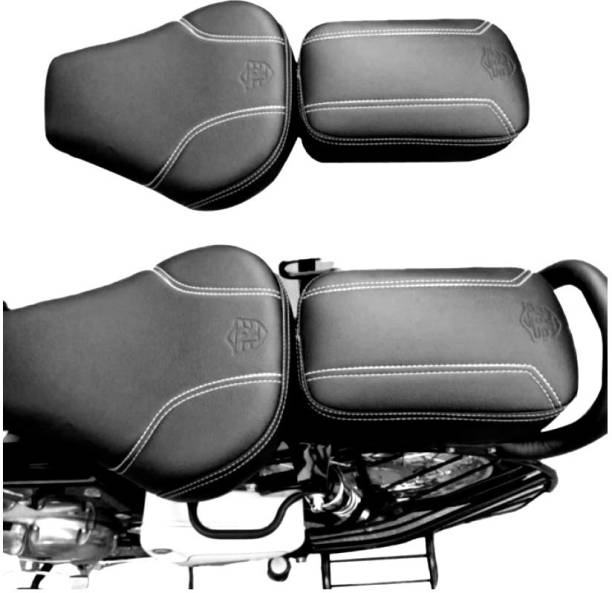KOHLI BULLET ACCESSORIES PURE BIKING Fancy Seat Cover Brown Front & Rear For Royal Enfield Classic 350cc 500cc Classic Chrome Split Bike Seat Cover For Royal Enfield Classic Chrome, Classic Desert Storm, Classic 350, Classic, Classic 500