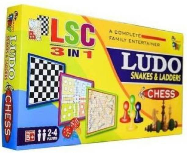 Risekart 3 in 1 Ludo chess snake & ladder Party & Fun Games (S66) Board Game Party & Fun Games Board Game Party & Fun Games Board Game