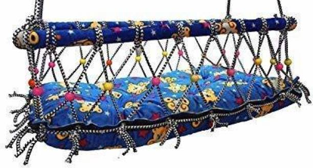 Hy Featch International Baby Cotton Blue Printed Hanging Cradle (Baby PALNA) Bouncer