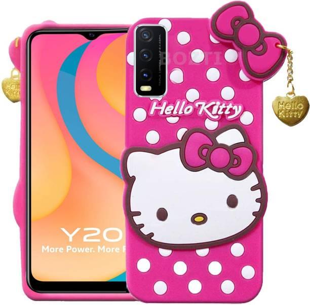 BOZTI Back Cover for Vivo Y20, Vivo Y20i, Cute Hello Kitty Case