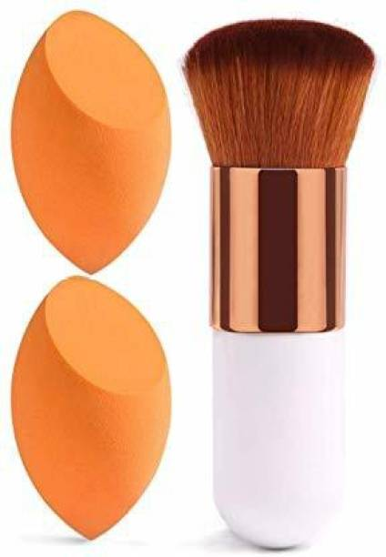 Shrijaa Beauty 2 Beauty Blender+White Foundation Brush
