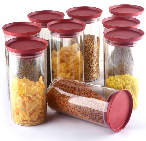 Shoptool Woman's 1st Choice New Unbreakable Airtight Transparent Jar / Plastic Jar / Grocery Containers / Storage Containers / Container sets / Storage Jar / Masala Box / Freezer Storage Box / Fridge Storage Containers / Plastic Containers / Kitchen Containers / Kitchen Storage Box Idle for Food, Grain, Rice, Pasta, Spices And Pulses Container  - 1400 ml Plastic Grocery Container