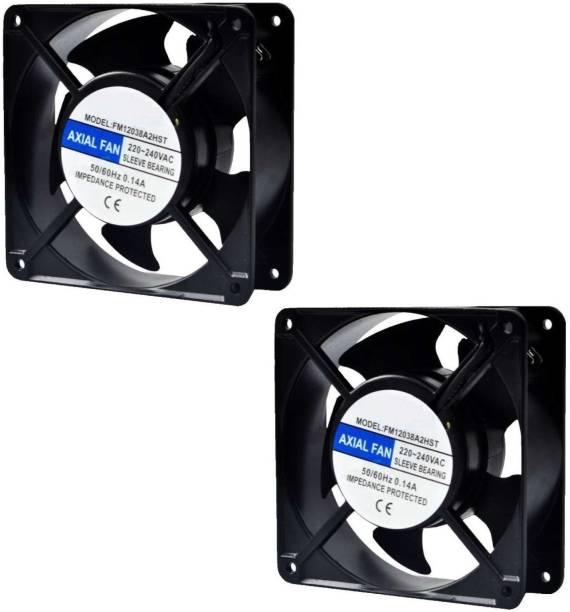 "BALRAMA 2pc 4"" AC Fan 4 Inch Panel Axial Cooling Fan Electrical Motor Industrial Exhaust Cooler"