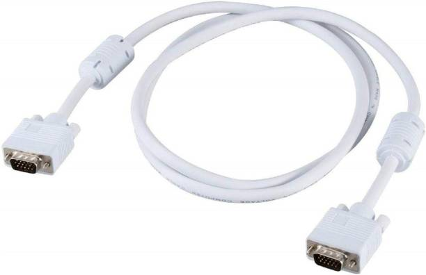Terabyte 9.75 Meter VGA Cable High Quality 15 Pin Male to Male White VGA Cable, Support PC/Monitor/LCD/LED, Projector VGA to VGA Converter Adapter Cable 9.75 m VGA Cable
