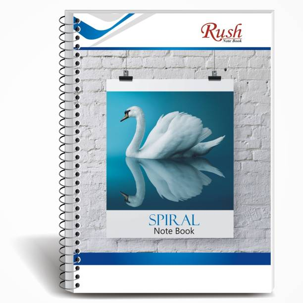 Rush 200 Page Spiral A4 Notebook | Pack of 6 | Single Line Ruled A4 Note Book Single Line Ruled 200 Pages