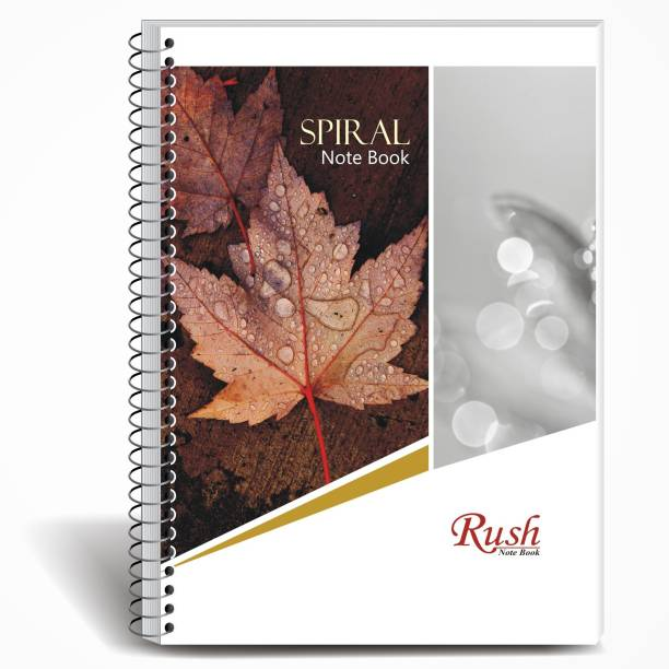 Rush 340 Page Spiral A4 Notebook | Pack of 5 | Single Line Ruled A4 Notebook Single Line Ruled 340 Pages
