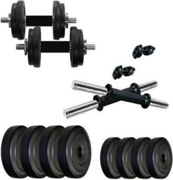 Rajputt 8Kg PVC Adujustable Dumbbells Set for Home and Gym (4 KG X 4 KG) Adjustable Dumbbell