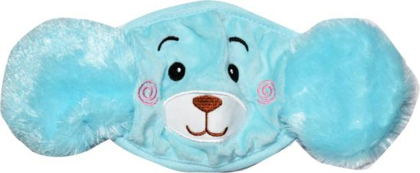 SHD COLLECTIONS Girl's and Boys' Warm Winter Face Mask with Plush Ear Muffs Covers, , (5 Years to Adult Years) Cloth Mask (Free Size, Pack of 1) Ear Muff