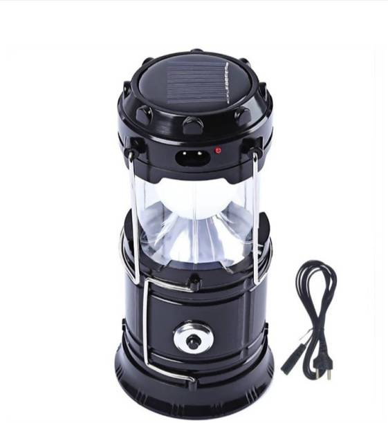 GAMI VR-5800 LED Solar Emergency Light Travel Camping Lantern with USB Mobile Charging, Torch Point, 2 Power Source, Lithium Battery Lantern Emergency Light