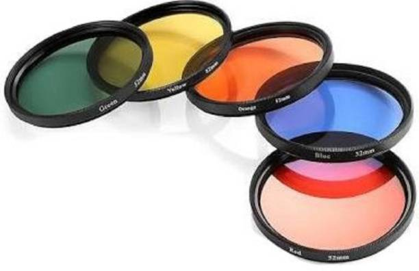 Hanumex Round Full Colour Flter Lens Accessory Filter Kit for Canon DSLR Cameras (58 mm)-Pack of 5 Color Effect Filter