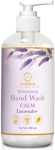Ovation The New Skin   Hand Wash Moisturising Calm Lavender   Free of Parabens, Sulphate, Silicone, Mineral Oil   Hand Wash Pump Dispenser