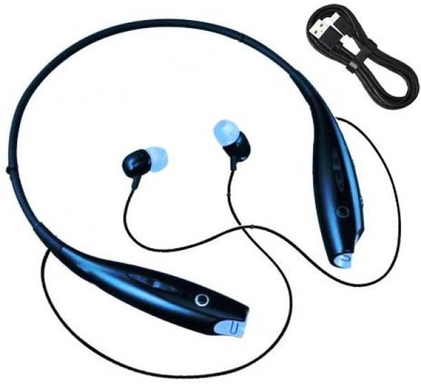 techobucks Portable Mp3 Handsfree Stereo Sound Bluetooth headphone Neckband MP3 Player
