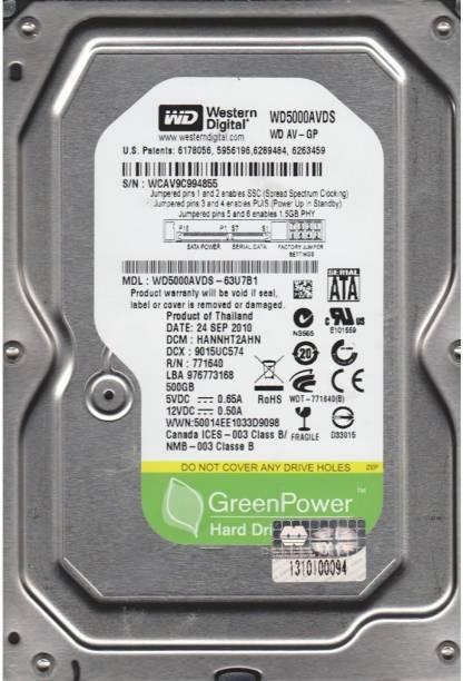 WD Green 500 GB Desktop Internal Hard Disk Drive (WD5000AVDS-WD5000AUDX)
