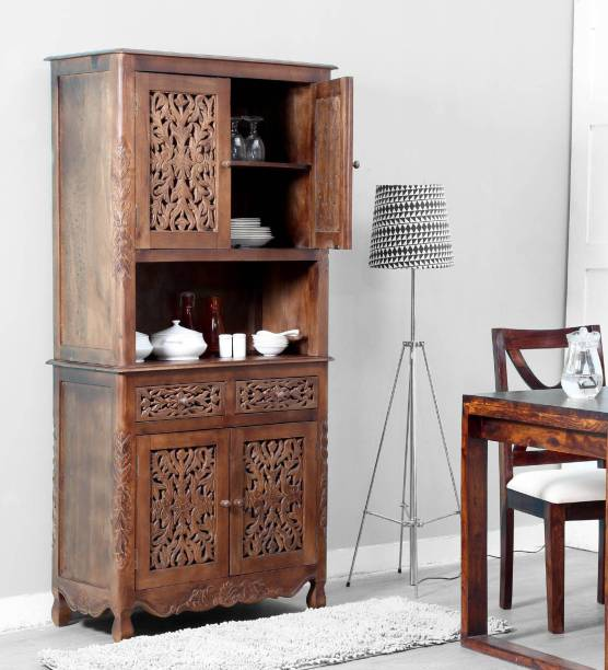 Balaji Wooden Solid Wood Crockery Cabinet