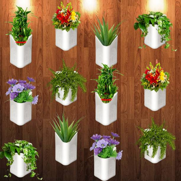 Techhark Home And Wall Decor Hanging Pots Plant Container Set Plant Container Set