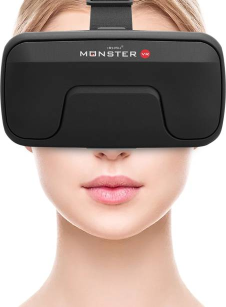 IRUSU Monster vr headset with built in touch button virtual reality headset for all mobiles