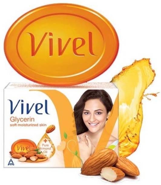 Vivel GLYCERIN SOFT MOISTURIZED SKIN SOAP 75GX5PCS