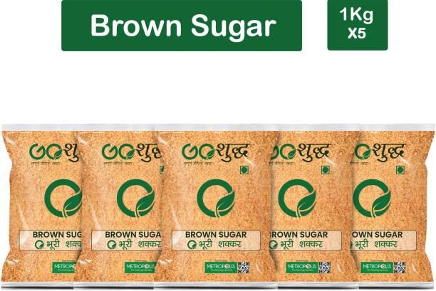 Goshudh Premium Quality Brown Sugar-1Kg (Pack Of 5) Sugar