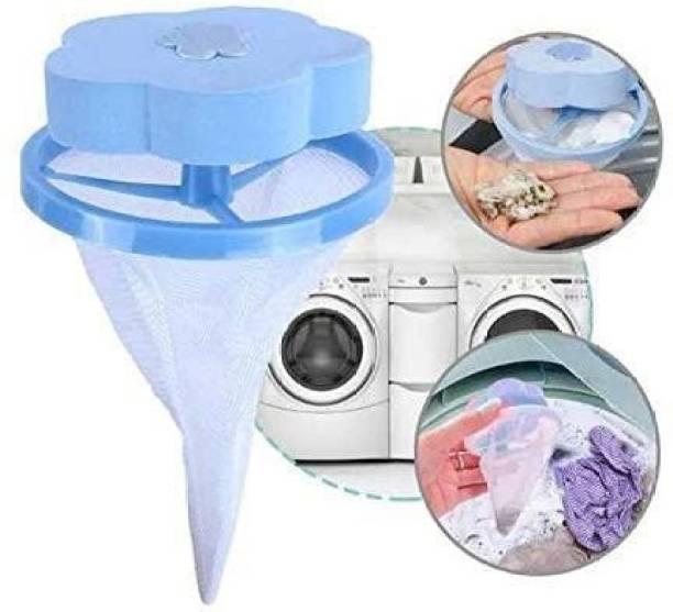 KIYAN ENTERPRISES Flower Shape Home Washing Machine Floating Net Bag Hair Removal Ball Debris Thread Cleaning Filter Net Lint Mesh Bag Detergent Bar