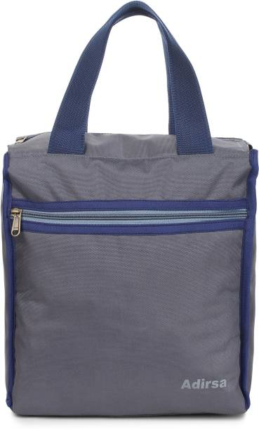 ADIRSA LB3015 GREY Lunch Bag / Tiffin Bag for Men and Women , Kids , School , Picnic , Work Carry Bag for Lunch Box Waterproof Lunch Bag