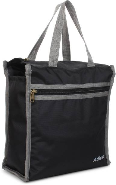 ADIRSA LB3015 Black Lunch Bag / Tiffin Bag for Men and Women , Kids , School , Picnic , Work Carry Bag for Lunch Box ,Tote Shopping Bag Waterproof Lunch Bag