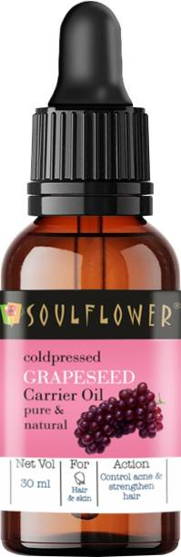 Soulflower Coldpressed Grapeseed Carrier Oil