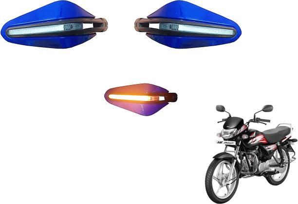 AutoVHPR He HF Delu Stylish Blue Hand Guard with LED Handlebar Hand Guard