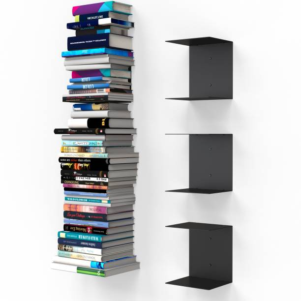 APPUCOCO Metal Open Book Shelf