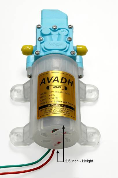 Avadh 6.5 LPM / 12v DC Battery oprated Motor/water Pump Diaphragm Water Pump. Diaphragm Water Pump Pressure Washer