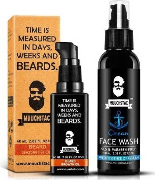 MUUCHSTAC Beard Growth Oil and Face Wash