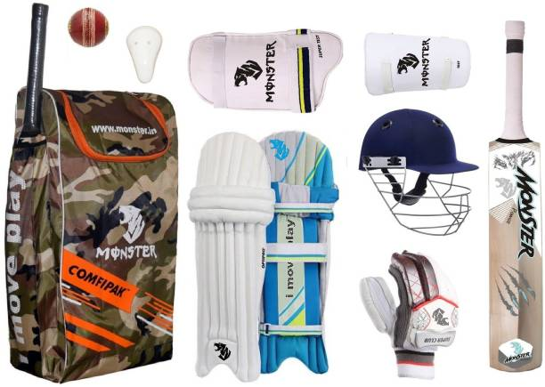 Monster CAMOFLAGES YOUTH SIZE CRICKET SET OF 6 NO ( IDEAL FOR 11-14 YEARS ) COMPLETE Cricket Kit