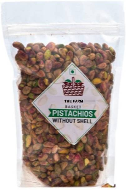 The Farm Basket Jumbo Size Pista Without Shell (Pack of 400GM) Pistachios