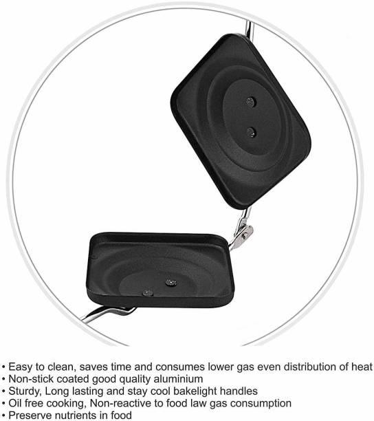 aashita shoppe 002 non stick gas toaster (black) Toast