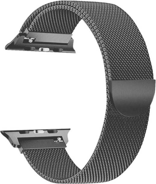 Tingtong Stainless Steel 42mm/44mm Milanese Band with Magnetic Closure Space Grey Chain Smart Watch Strap