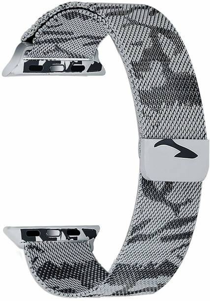 Tingtong Stainless Steel 42mm/44mm Milanese Band with Magnetic Closure Camouflage Chain Smart Watch Strap
