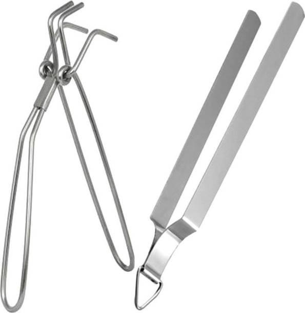 A2SK Iron steel polish 30 cm Roasting, Utility Tong Set