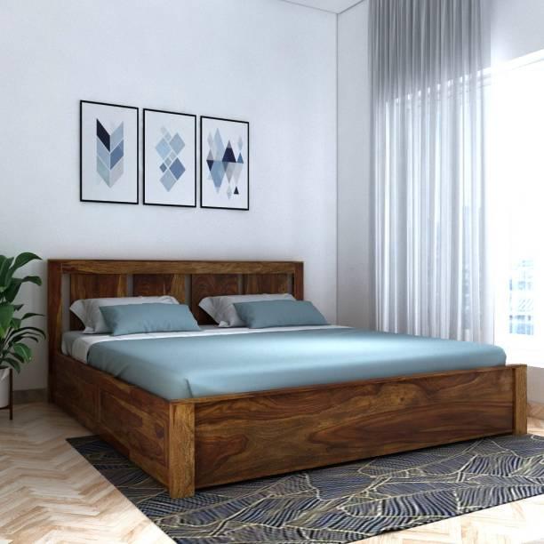 Vintej Home Sheesham Wood Solid Wood King Box Bed