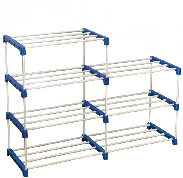 CMerchants Multi Organiser BLue-7 Book Shelf Metal Open Book Shelf
