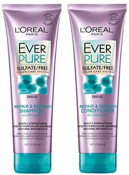 L'Oréal Paris Paris Everpure Repair & Defend Shampoo & Conditioner Kit For Color-Treated Hair, 8.5 Ounce, Set Of 2