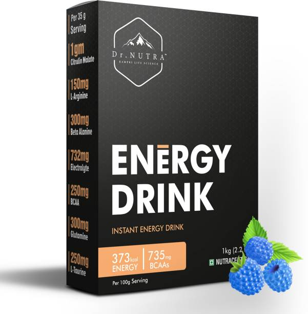 Dr.Nutra Pre Workout Instant Energy Drink, (1 Kg ,Blue Raspberry Flavour) Energy Drink