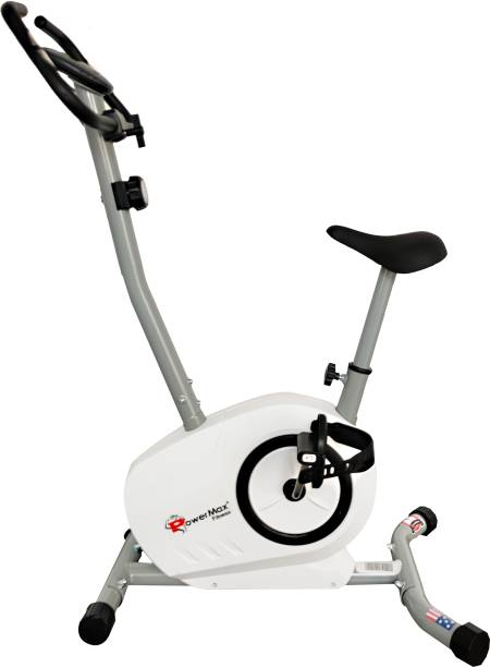 Powermax Fitness BU-515 Magnetic Upright Bike with LCD Display Upright Stationary Exercise Bike