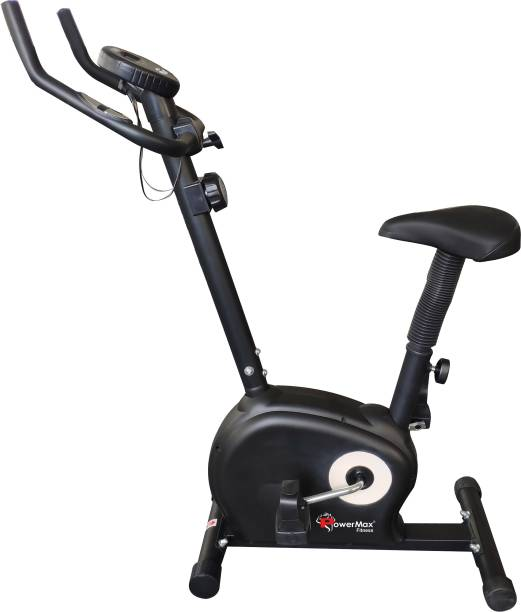 Powermax Fitness BU-510 Magnetic Upright Bike with LCD Display Upright Stationary Exercise Bike