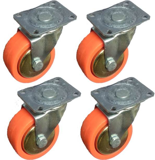 NRT 360 DEGREE ORANGE SINGLE ROTATING TROLLEY WHEEL Appliance Furniture Caster