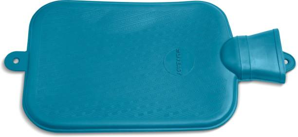 LivEasy Essentials Hot Water Bag & Heating Pad for Pain Relief - 2 Ltr (Blue) Non-Electrical 2 L Hot Water Bag