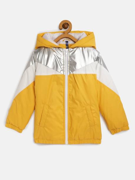 Yk Full Sleeve Colorblock Girls Jacket