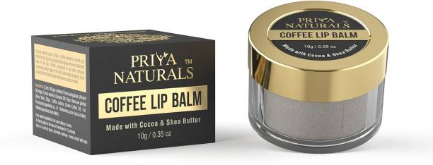 Priya Naturals Coffee Lip Balm ,Enriched with Cocoa Butter, Shea Butter And Essential Oils For Lips (Paraben-free) - 10 gm Coffee