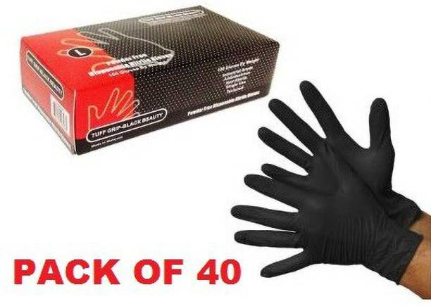 dental mart -:Nitrile Gloves Black Powder Free Rubber Medical Exam Gloves, Comfortable Industrial Gloves Nitrile Examination Gloves